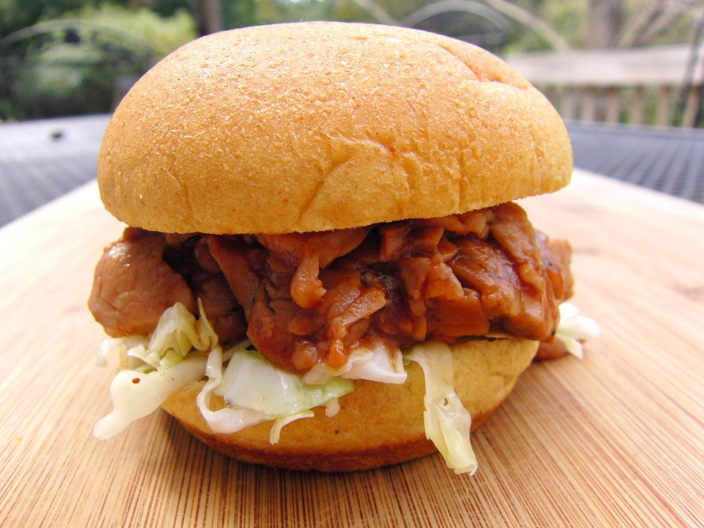 Barbecue Pork Tenderloin Sliders with Tangy Cole Slaw