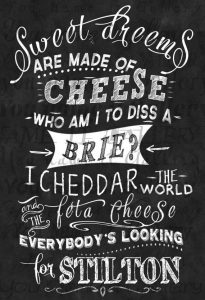 So many cheeses, so little time...