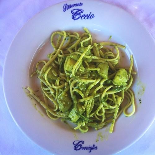 Pesto Pasta in Corniglia