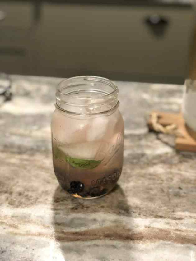 blueberry basil cocktail