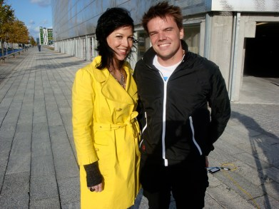 Bjarke Ingels and Amy Devers in Copenhagen