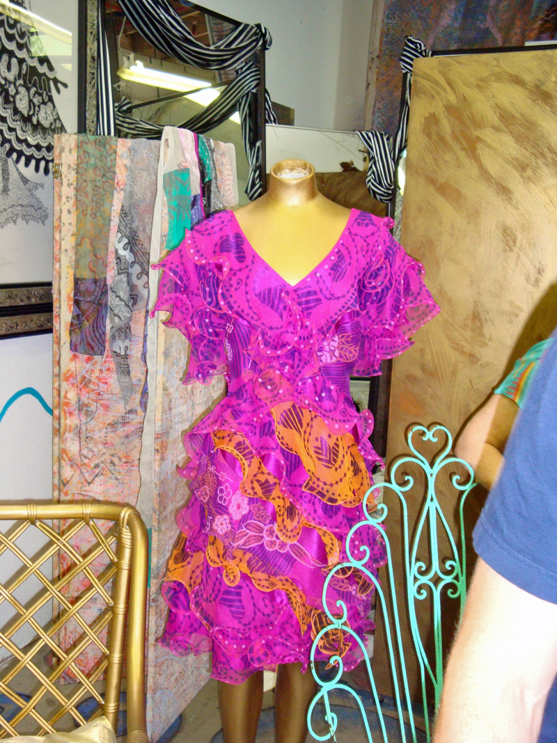 dress in Zandra Rhodes studio