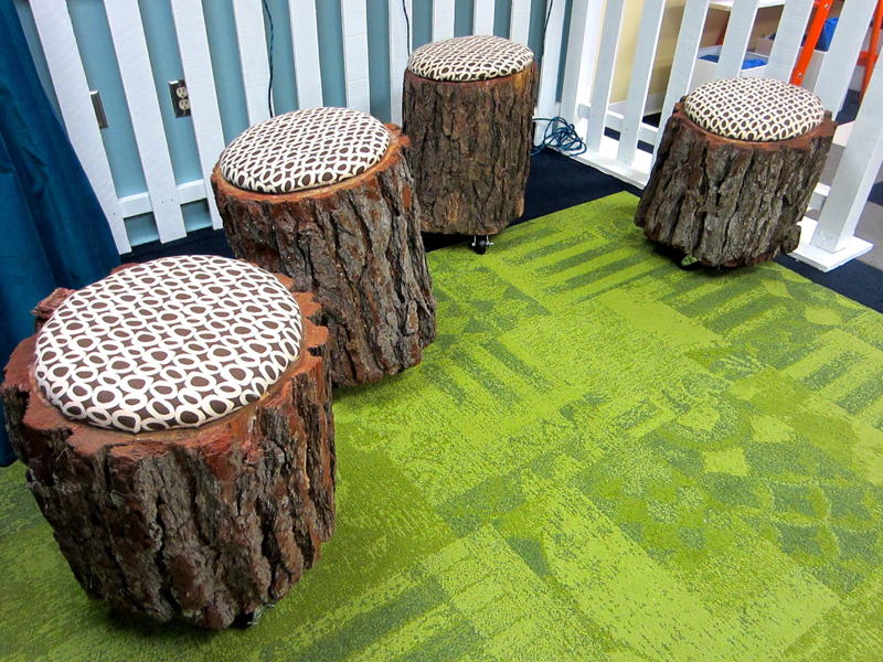 Tree Stump Stools