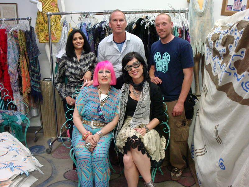 Zandra Rhodes and Designer People crew