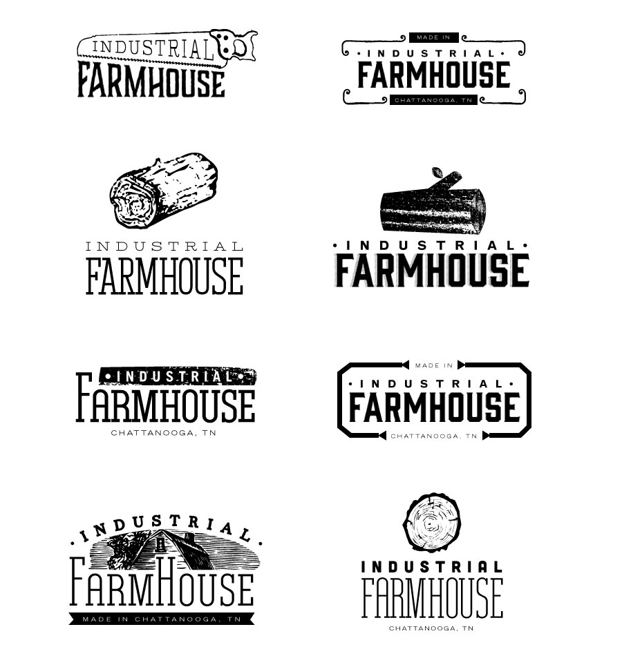 Industrial Farmhouse Logo Options