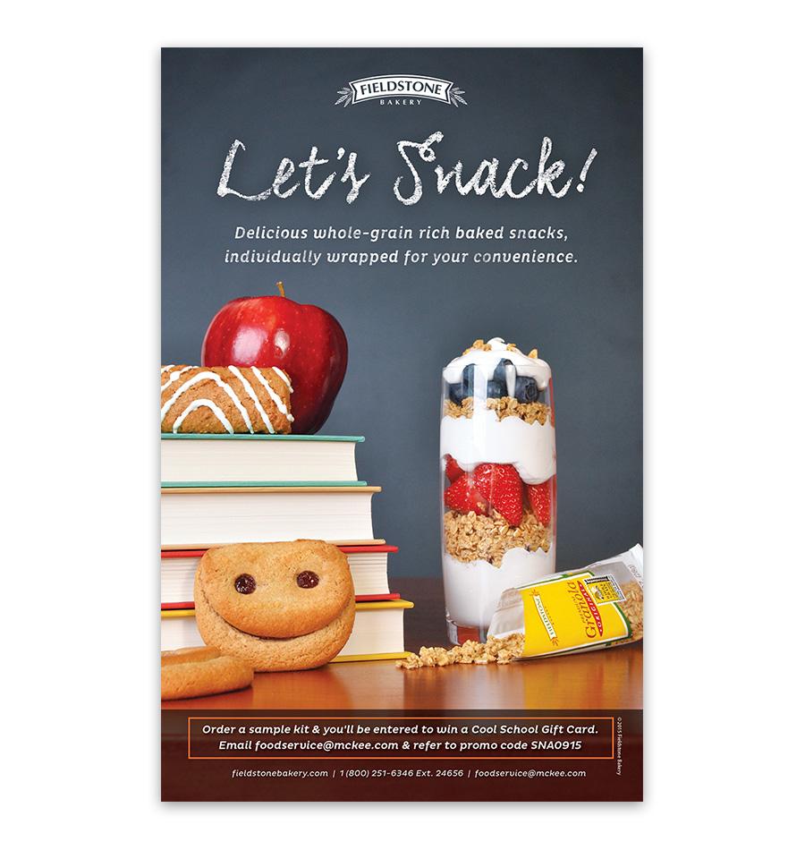 School Nutrition Let's Snack Ad 2