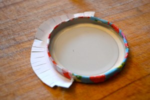 covering jam jar lids