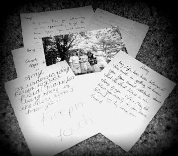 Letters from friends I made at Ridgecrest.