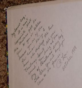 Inscription in book from my teacher