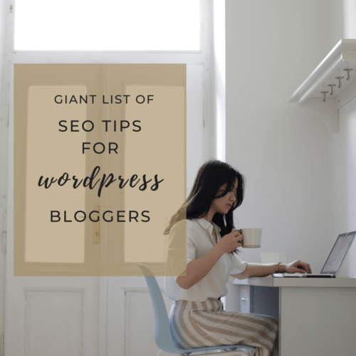 Giant List of SEO Tips for WordPress Bloggers