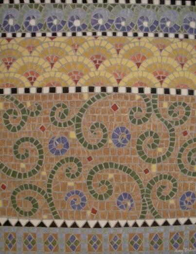 """Mosaic #2"" 22 x 28 acrylic on canvas board, SOLD"
