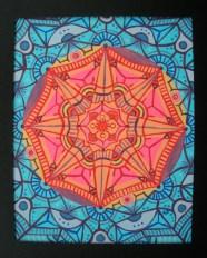"""Sun Mandala"" 8 x 10 acrylic on canvas paper, SOLD"