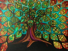 Tree of Life (3 of 3), 22 x 28, acrylic on canvas, 2012, SOLD