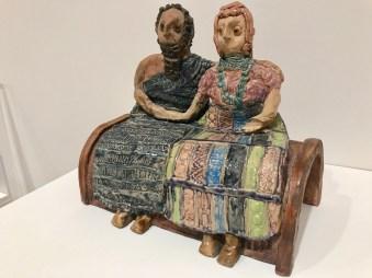 NUHA AL-RADI, Untitled (Seated Figures) 1992 Ceramic