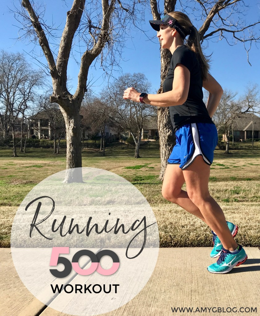 Running 500 high intensity workout. Cardio and strength designed to burn maximum calories in a short amount of time!