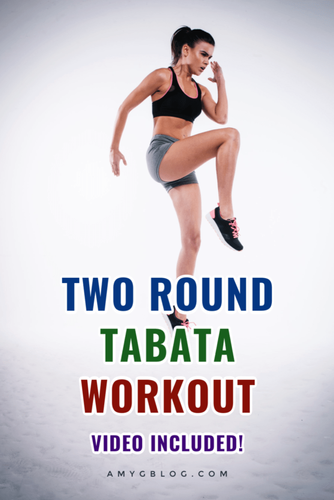 This two round Tabata workout is an intro to Tabata style HIIT. Learn about Tabata and follow along with a full two round workout video! 10 minute workout to get your heartrate up in a pinch! #quickworkout #hiit #highintensityworkout #noweightsworkout #homeworkout
