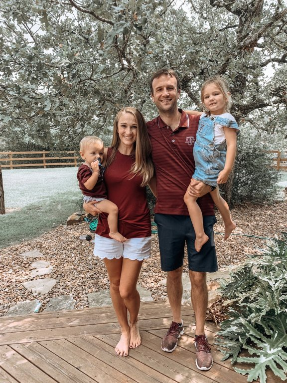 Family tailgate for Texas A&M Aggie football game