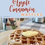 These homemade apple cinnamon waffles are easy and delicious! While apple cinnamon screams fall, you can enjoy this tasty breakfast year round! #homemadewaffles #applecinnamonwaffles #wafflerecipe #easywafflerecipe
