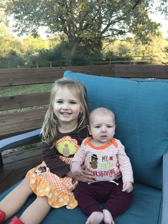 Sweet siblings at Thanksgiving
