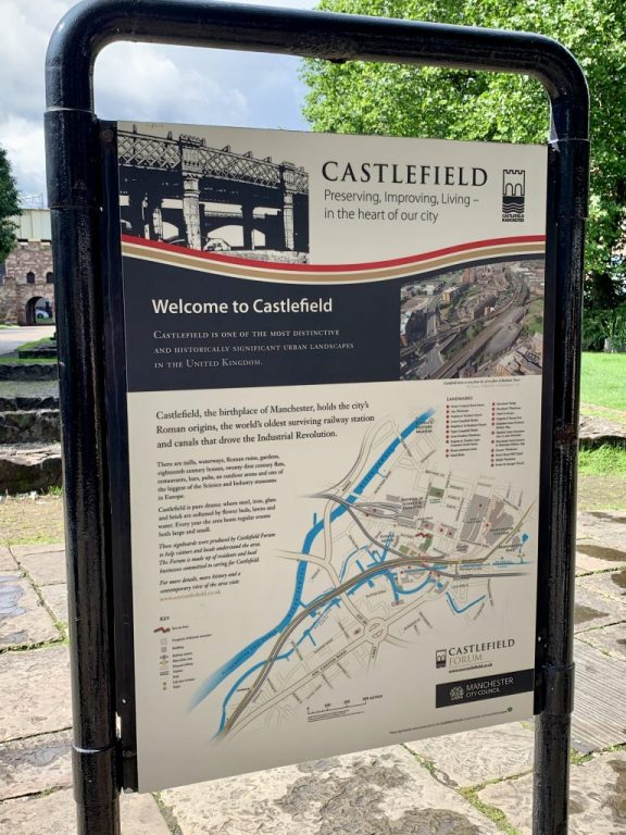 Castlefield, Manchester, United Kingdom. The building blocks of the city. Plenty of green space to run around and learn about the city's Roman ruins.