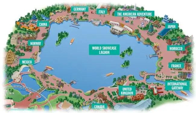 Epcot World Showcase Map