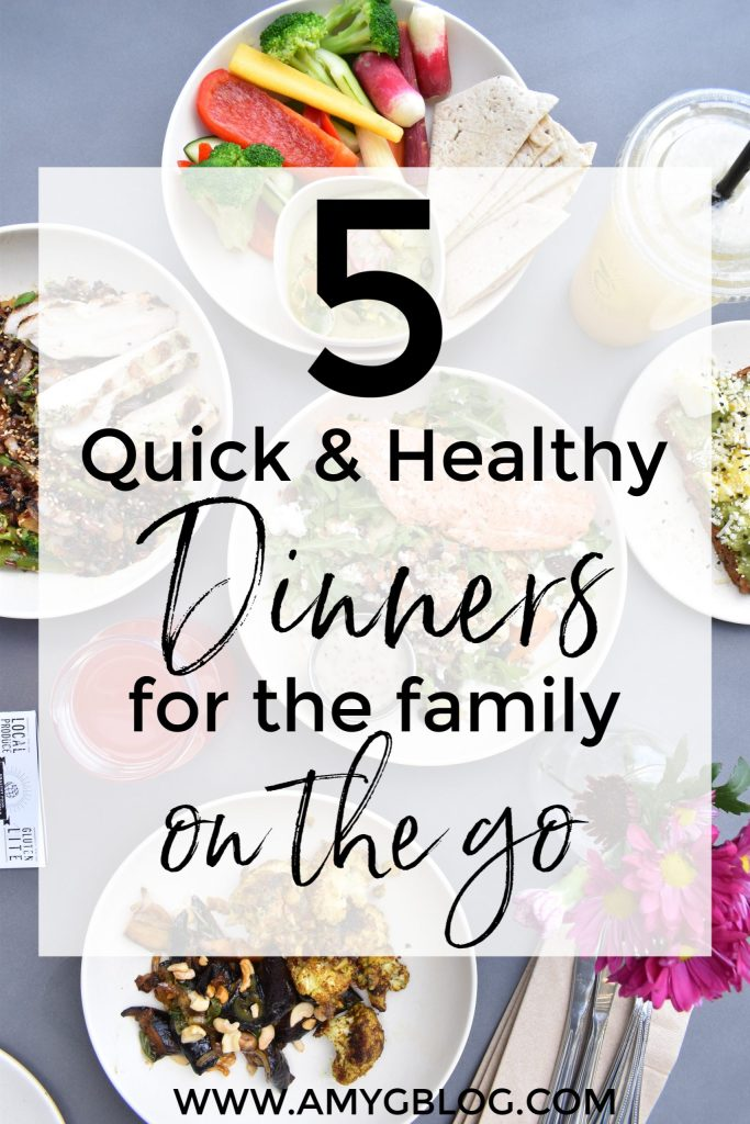Check out these 5 healthy and easy recipes to make for your family during a busy week! Also take a look at my meal planning process to see how I decide what to make each week!