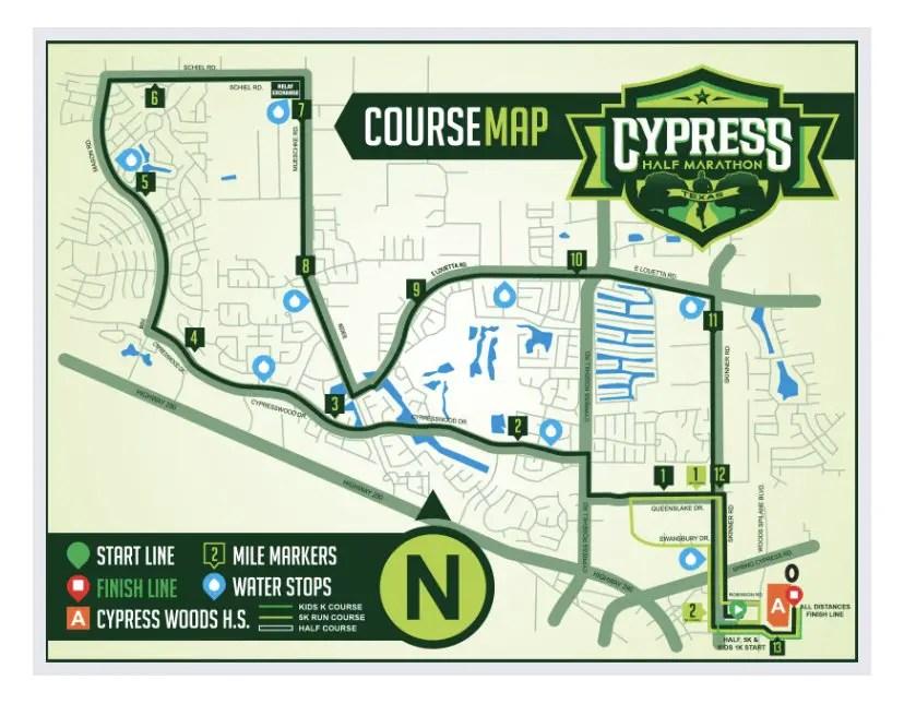 2019 Cypress Half Marathon course