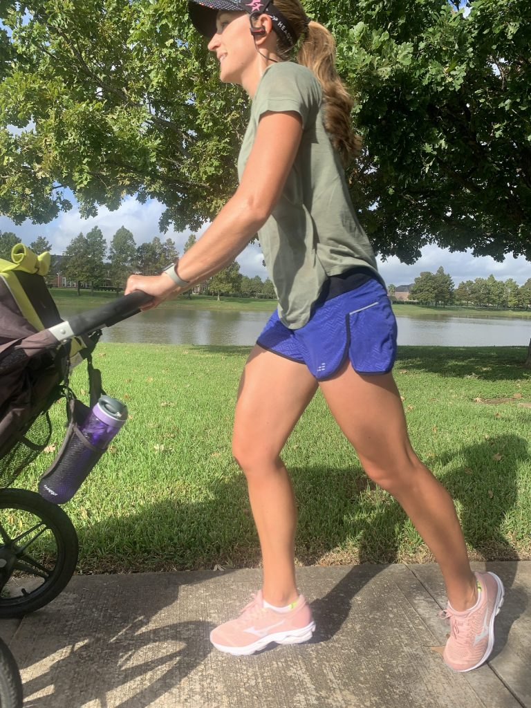 Most of my Dopey training was spent pushing a jogging stroller! Dopey running mom right here!