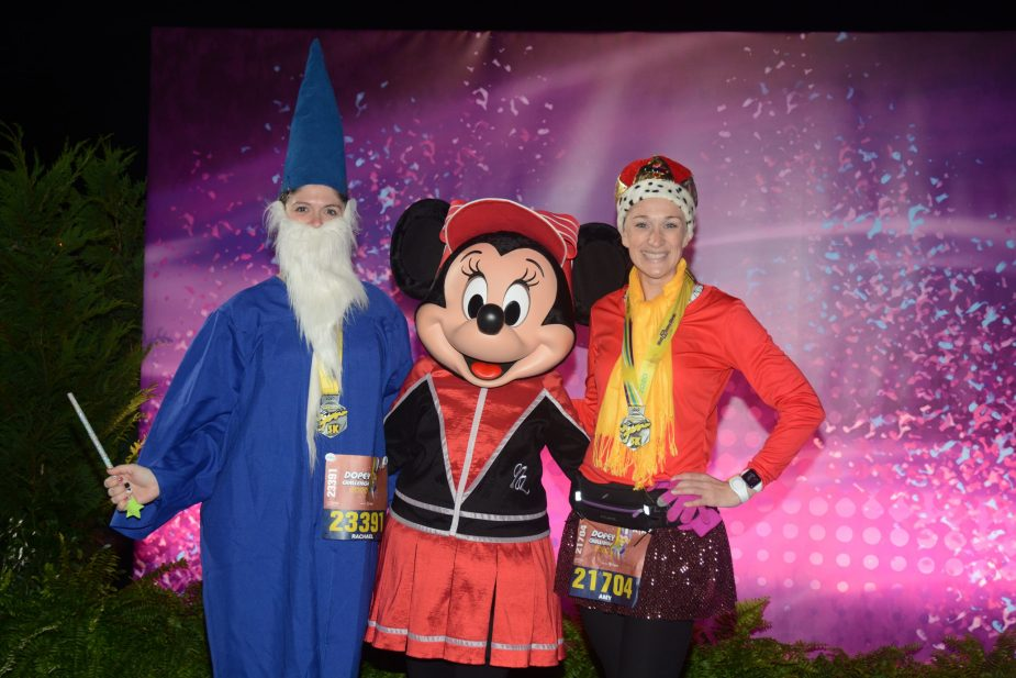 2020 runDisney Dopey Challenge 5K! Finish photo with Minnie Mouse!