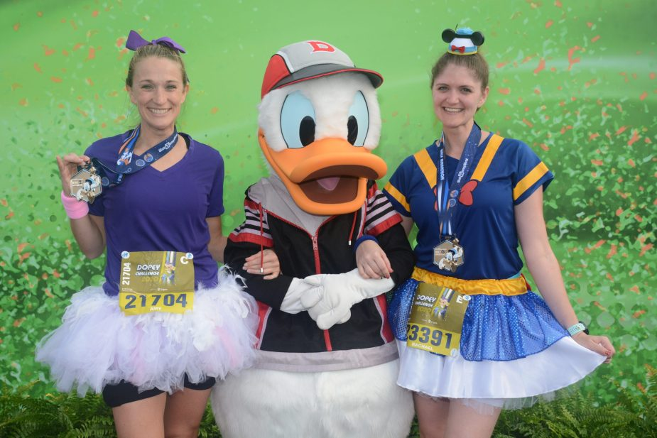 Walt Disney World half marathon post race area!