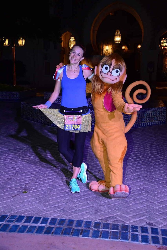 runDisney Marathon Weekend 10K. Second race of the Dopey Challenge. Pit stop to take a photo with Abu in Morocco at Epcot!