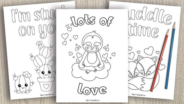 Free Valentine's Day printables! Check out these coloring pages, matching games and even BINGO all with a Valentine's Day twist.