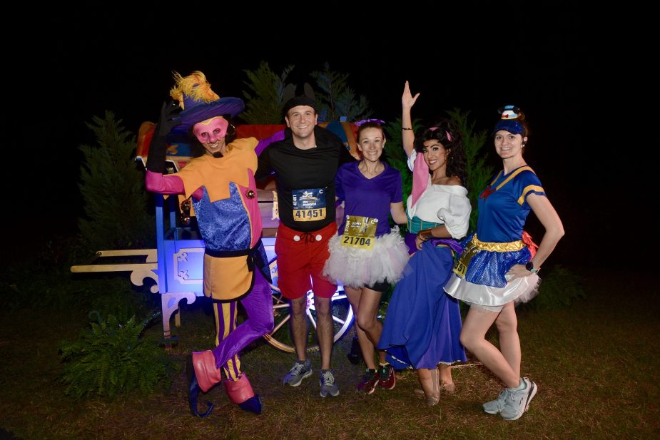 Meeting rare characters on the course is one of the best parts of runDisney races!