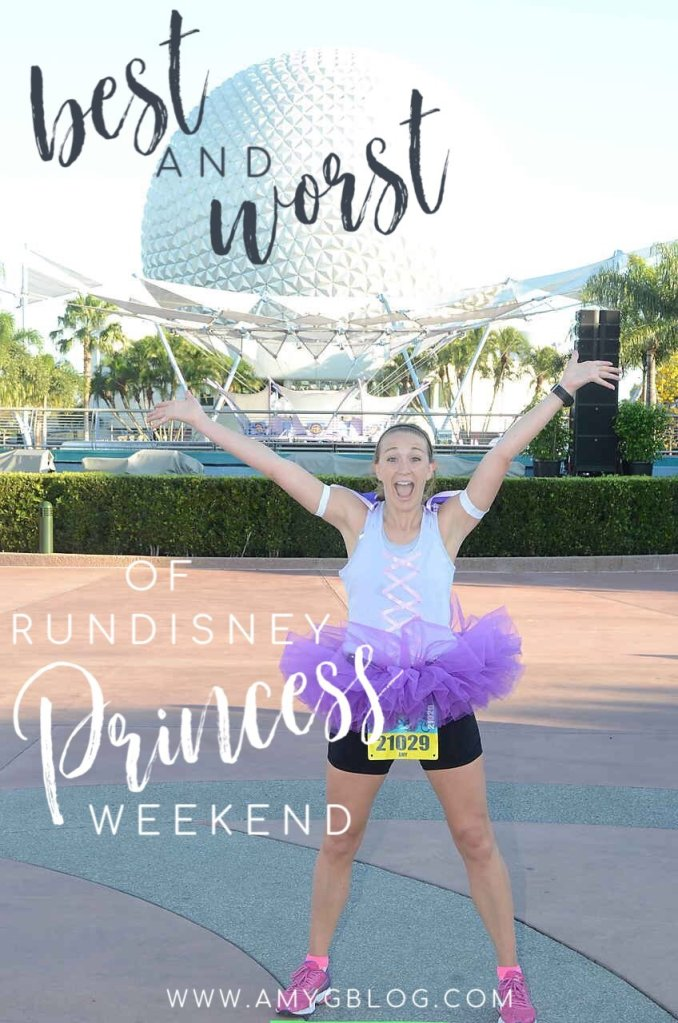Are you ready to run at the most magical place on earth? If so, it's time to get prepared and understand all the fun and crazy that goes into a runDisney race. I've run the Princess weekend half marathon 8 times, so I'm here to share the BEST and WORST that runDisney Princess Weekend has to offer! Read on to get more tips and tricks about running your best race! #rundisney #disneyrunner #princesshalfmarathon #halfmarathon #runningatdisney #runningcostumes