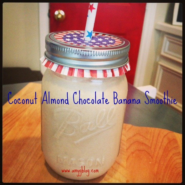 This easy smoothie recipe will leave you full and satisfied! Coconut Almond Chocolate Smoothie - a healthy dessert made with the most delicious coconut butter!
