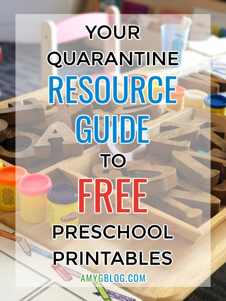 Here is your complete resource guide to free educational preschool printables! We may not be able to go to school, but we can still teach our kids at home. Check out different printables for different learning styles and see what fits your child's needs. #preschoollearning #homeschooling #preschoolprintables #preschoolathome #quarantineideas #quarantinelearning #quarantinepreschool