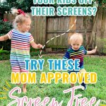 Are you searching for some creative screen free activities for you little ones? Look no further! Here are some fun activities to keep your kids busy and away from the tv and tablet! #screenfreefun #busyactivities #athomeactivities #toddleractivities #thingstodoathome