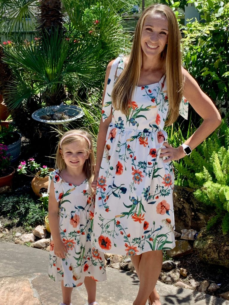 This super cute mommy and me dress comes in sizes as small as 0-3 months and as large as a women's XXL. I'm wearing a women's small!  Shop this look via the LIKEtoKNOW.it shopping app! Follow me {amysbalancingact} to shop all of my looks!