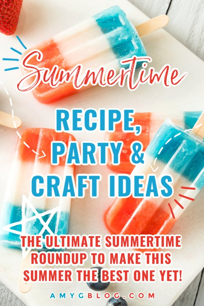 This summertime roundup has everything you need for summer BBQ recipe ideas to fun summer themed crafts for the kids. You can learn how to throw the perfect outdoor gathering and get over 50 free 4th of July printables to help celebrate! Get everything you need right here to make this summer the best! #summerroundup #summerrecipeideas #summerdesserts #4thofjulytreats #4thofjulycocktails #4thofjulyfreeprintables #howtothrowasummerparty #summerpartydecor