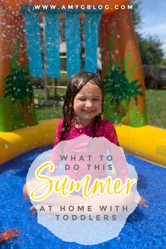 Spending a lot of this summer at home with toddlers? Look to further for some fun activities you can do together and where to get them if you don't already have it on hand! #summeractivitiesathome #summertoddlerfun #athomesummer #summeractivitiesfortoddlers #funtoddleractivities