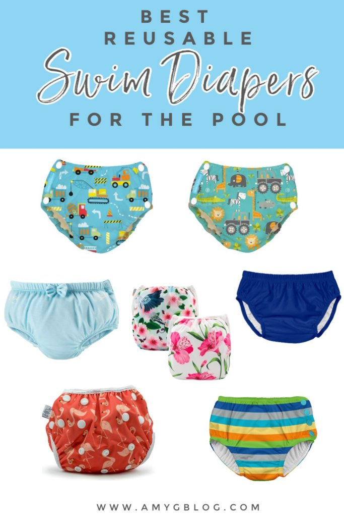 Some of the best reusable swim diapers perfect for a day at the pool, swim lessons or weekend at the beach! #swimdiapers #musthavepoolgear #babyswimdiapers