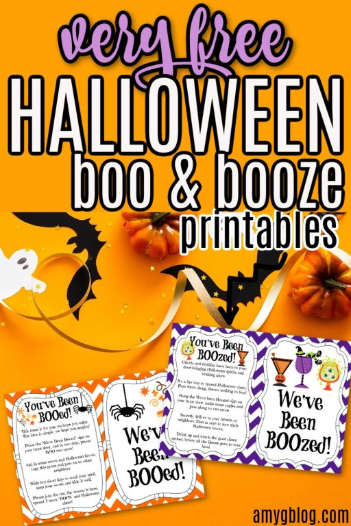 It's time to BOO or BOOze your neighbors this Halloween. Spread the Halloween cheer with this fun activity and these free printables! #halloweenprintable #booprintable #youvebeenbooed