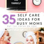 Self care as a mom isn't always easy. We're always busy and focusing on our families, but it's important to take time for ourselves! These self care ideas for busy moms are just the trick to spend a few minutes on YOU!