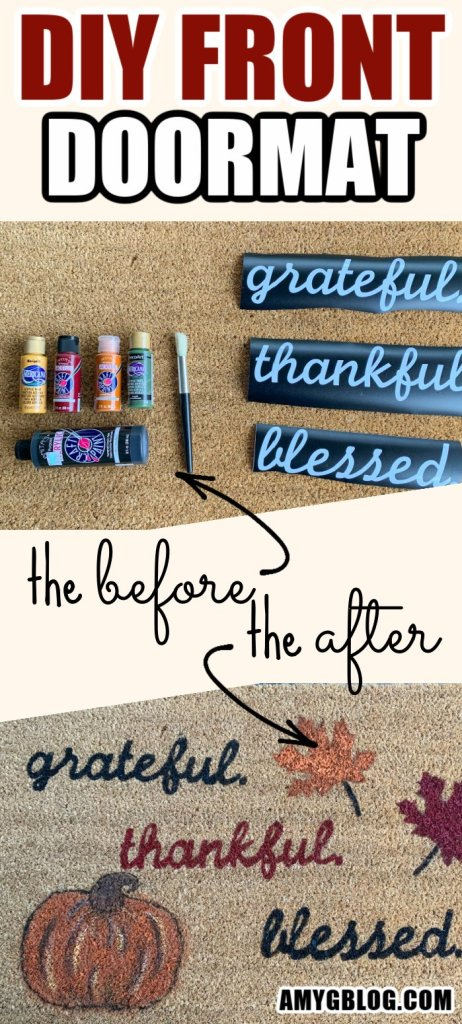 DIY your own custom front doormat! Create own for any season, occasion or just for fun. It's so much easier than you think and makes for an awesome girls craft party! #craftparty #adultcraft #diydoormat #diywelcomemat #customwelcomemat