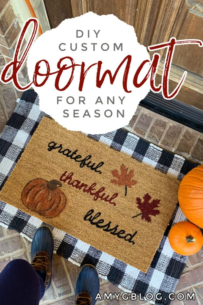 DIY custom front doormat