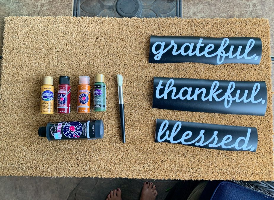 DIY custom front doormat - Supplies