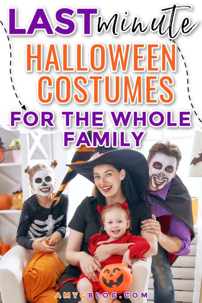 Not sure what to be for Halloween this year? Or did you decide that you actually WILL dress up a little late? Here are some fun costumes that you can snag for everyone in the family! #halloweencostumes #halloween #babycostumes #kidcostumes
