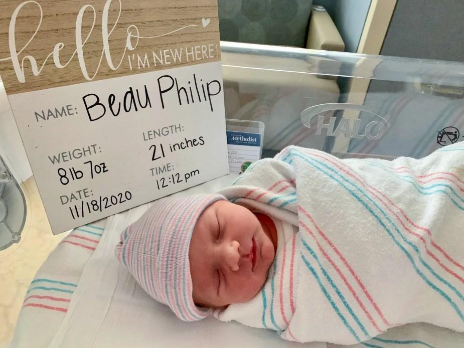 Beau Philip Gougler in Postpartum recovery