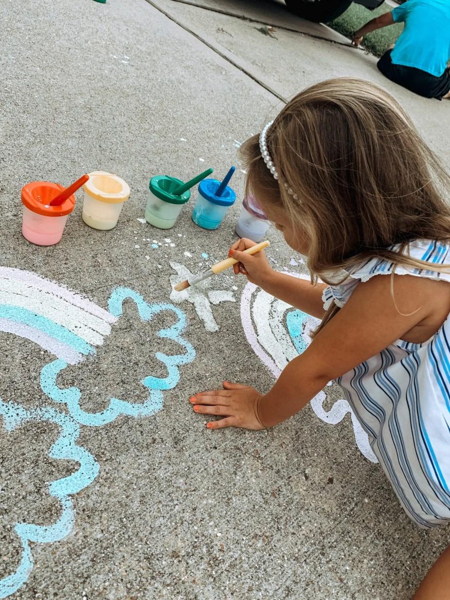 backyard activities for kids - DIY chalk paint