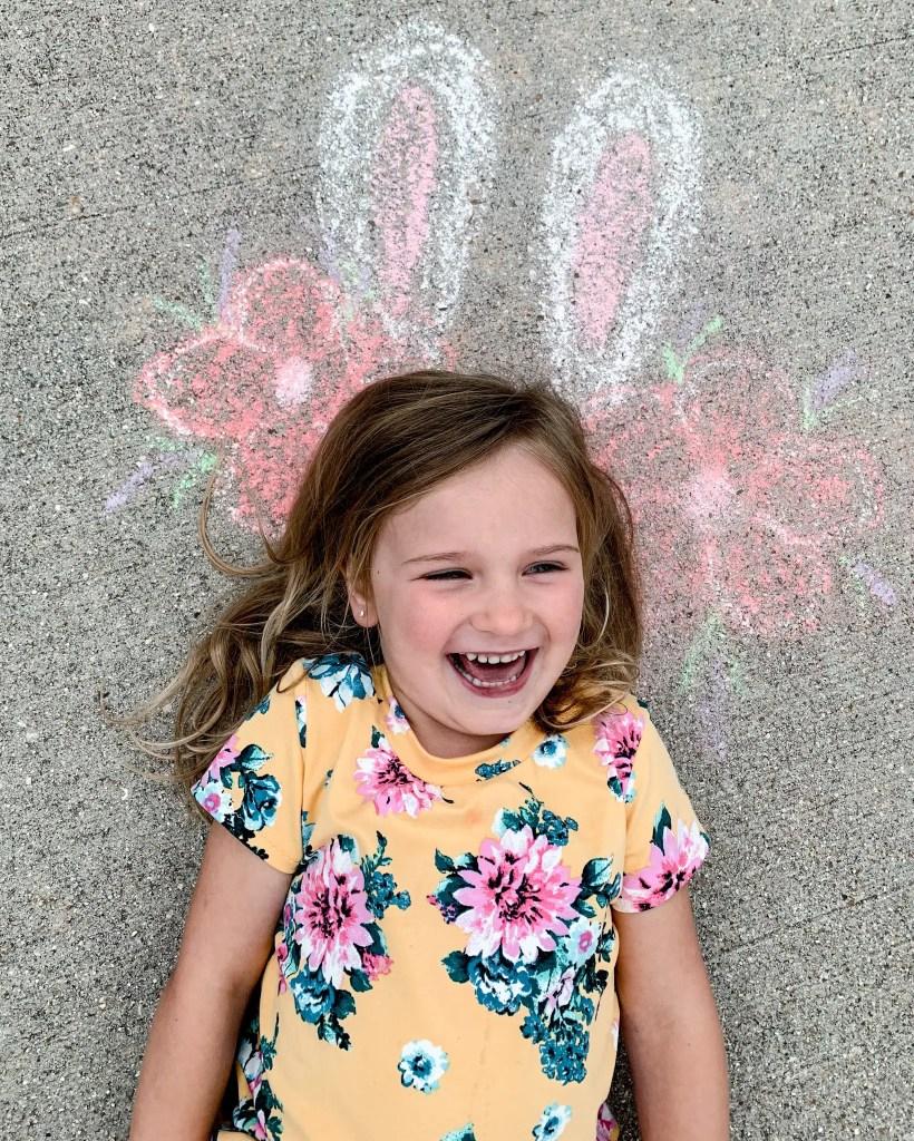 Backyard activities for kids - sidewalk chalk
